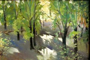 Вл.Суханов После дождя.Аллея 1996-97 к.м.